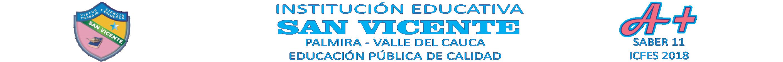 INSTITUCION EDUCATIVA SAN VICENTE